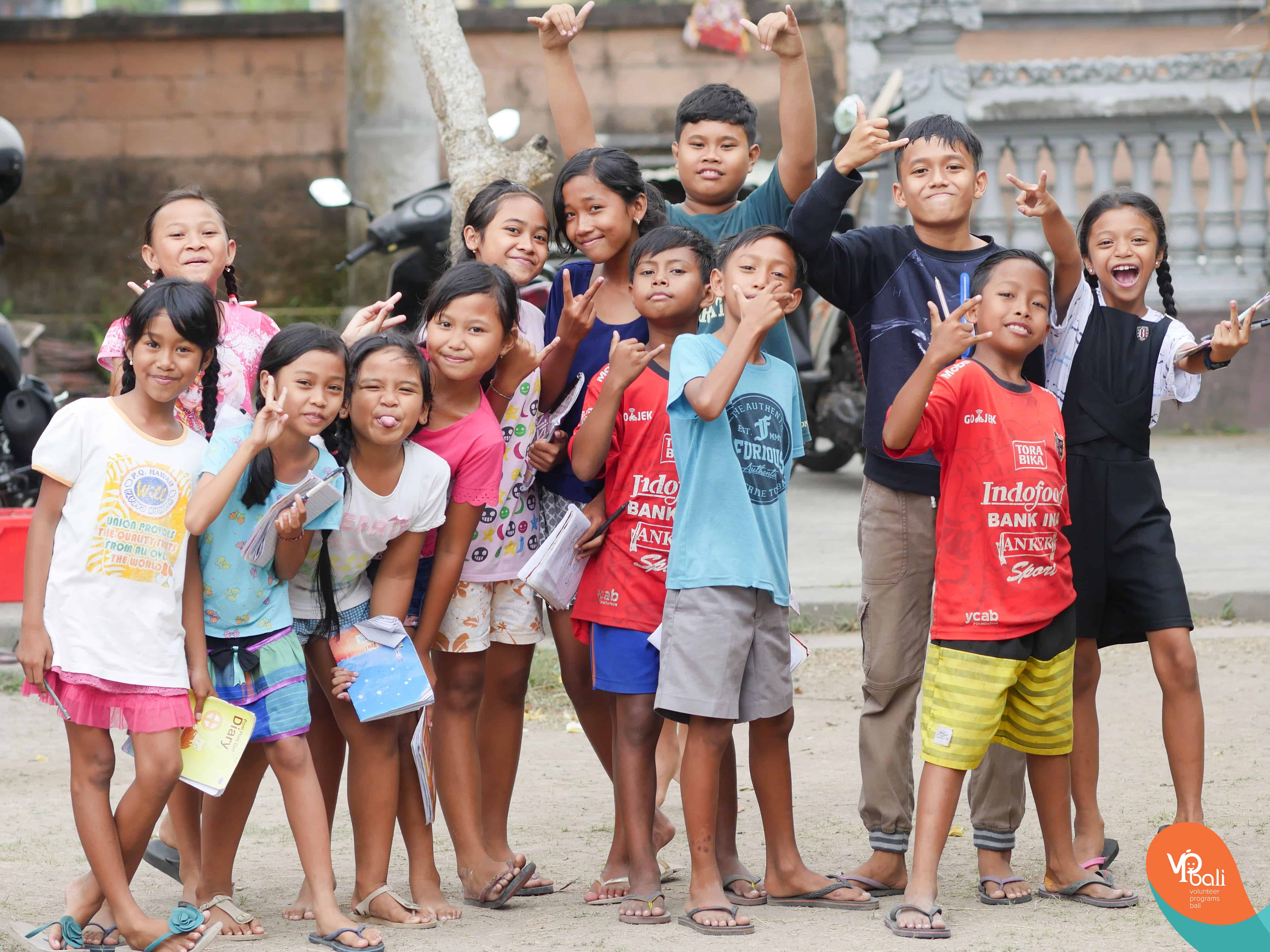 At Volunteer Programs Bali, we don't follow all the national holidays. Firstly, because we are not a regular school, we are a free afternoon program which is not mandatory for the children to join. So the children can decide for themselves whether they want to join the classes.
