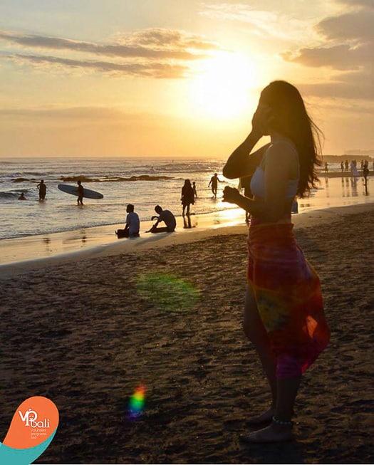 Sunset in Bali, Canggu beach