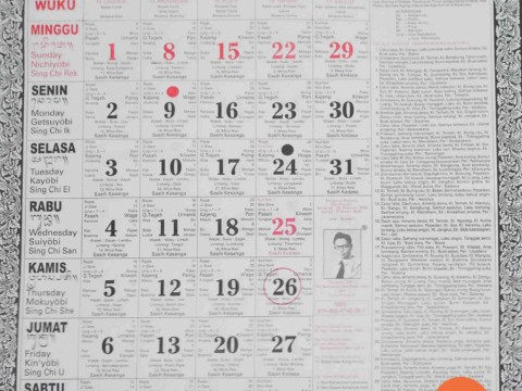 Balinese calendar is very unique.